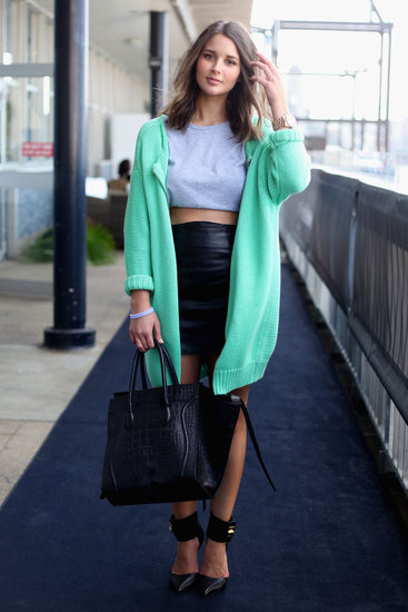 Australia-Fashion-Week-Spring-2012-Street-Style-oversize_mint_knit_jacket